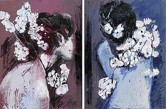Obrazy - Kvetné divy. Diptych. Olej, originál - 2406642