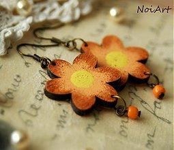 Náušnice - aurantiaco flores - 2413120