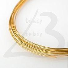 Suroviny - DRO2501, Pamäťový drôt priemer 11.5cm ZLATO /5Ø - 2419990