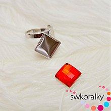 Komponenty - Prsteny na CHESSBOARD kámen 12  SWAROVSKI ® ELEMENTS - 2420497