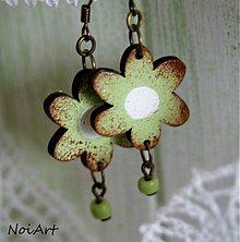 Náušnice - viridi flores - 2420694