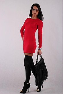 Šaty - SEXI DRESS__RED_BLACK_multiface - 2424394