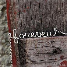 Náhrdelníky - Náhrdelník s menom z postriebreného drôtu: 6-8 písmen (forever) - 2426022