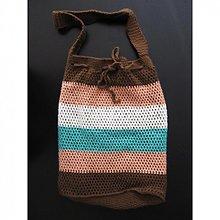 Veľké tašky - Pruhovaná taška na plece - 2426581