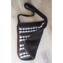 Veľké tašky - Hnedá cik-cak taška na plece - 2427132