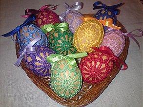 Dekorácie - Vajíčka farebné - 2427929