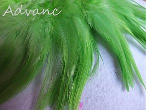 Suroviny - Kohútie jednofarebné zelená hrášková R3 - 2431512