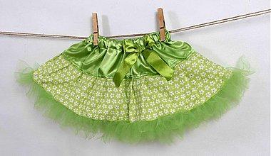 Detské oblečenie - jarná, kvetinová TUTU sukňa - 2432315
