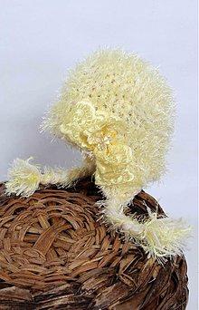 Detské čiapky - mäkkučká žltá - 2432325