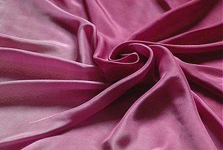 Šatky - Purpurový malovaný hedvábný šátek - 2433091