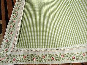Úžitkový textil - Veľký obrus - Zelenkavý - - 2433254