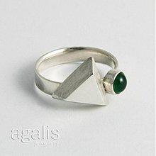 Prstene - Strieborný prsteň \