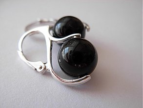 Náušnice - SW mystic black pearls Ag 925/1000 - 2439163