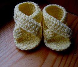 Topánočky - Žlté sandálky akcia - 2440772
