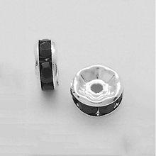 Korálky - KKO2557, RONDELKA 8mm ČIERNA /1ks - 2441524