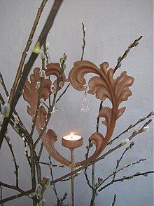 Svietidlá a sviečky - záhradné srdce - 2441589