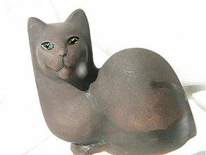 Dekorácie - Mačka šedá