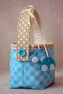 Úžitkový textil - Košík do modra II. - 2443411