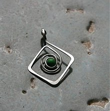 Náhrdelníky - Kosoštvorný v zelené - 2445758