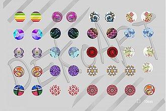 Materiál ručne robený - Motívy na šperky č. 23- akcia na všetky 4+1 zdarma - 2445974