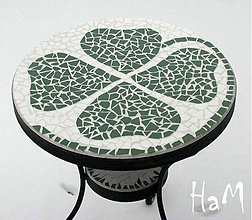 Nábytok - Mozaikový stolík Štvorlístok predaný - 2447172