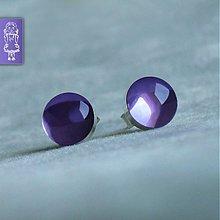Náušnice - Borůvkové bublinky - stříbro - 2447553