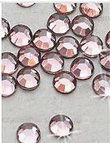 Galantéria - Hotfix kamienky: pudrové - baby pink, SS10 144ks - 2452209