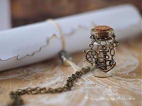 Náhrdelníky - lahvička na vzpomínky či na drobnosti - 2452226