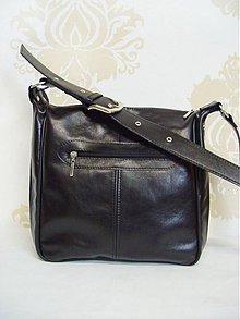 Kabelky - Čierna kožená kabelka Martina - 2453598