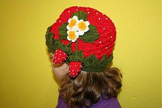 Detské čiapky - Jahôdka - 2453719