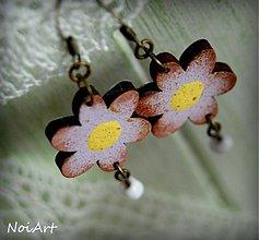 Náušnice - purpureos flores - 2453833