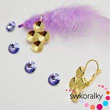 Komponenty - Náušnice pozlacené 24 karátů 4x8 SWAROVSKI ® ELEMENTS - 2458493