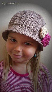 Detské čiapky - Háčkovaný klobúčik - jarný ... - 2465142
