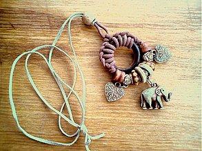 Náhrdelníky - sloník pre šťastie - 2465423