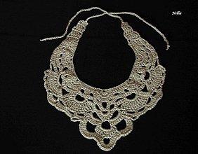 Náhrdelníky - Béžový náhrdelník - 2467775