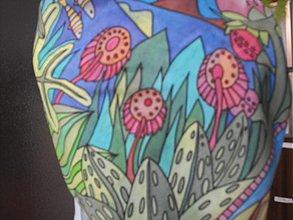 Šatky - Maľovaná šatka - ryby - 2470709