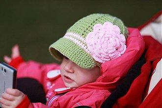 Detské čiapky - ružička.... - 2471645