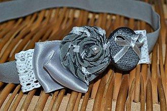 Ozdoby do vlasov - Romantika v šedej - 2472039