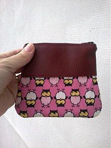 Peňaženky - sovičková peňaženka bordová - 2474960