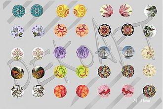 Materiál ručne robený - Motívy na šperky č.24- akcia 4+1zdarma na všetky motívy - 2475634