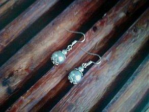 Náušnice - strieborné perly - 2478877