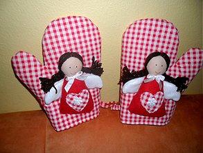 Úžitkový textil - anjelské chňapky - 2479752