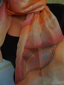 Šatky - oranžové slzy - 2482015