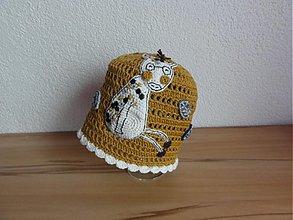 Detské čiapky - Žirafková čiapočka - 2484349