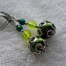 Náušnice - ZUZANA (tm.zelená) - 2485417