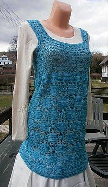 Tuniky - tyrkysové šaty - 2486328