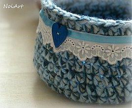 Košíky - Vidiecka romantika v modrom - 2488890