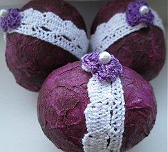 Dekorácie - vajíčko bordovo-fialové... - 2490992