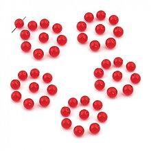 Korálky - 1410 Syntetický korálik červený 10 mm, 10 ks - 2491505