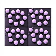 Korálky - 1411 Syntetický korálik svetlofialový 10 mm, 10 ks - 2491506